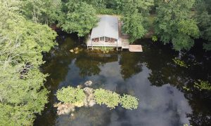 Luxury Log Cabin Arial View